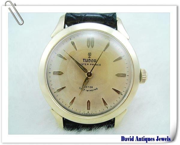 ((天堂鳥)) ROLEX TUDOR 勞力士帝舵 OYSTER-PRINCE 14K金小玫瑰機械古董錶