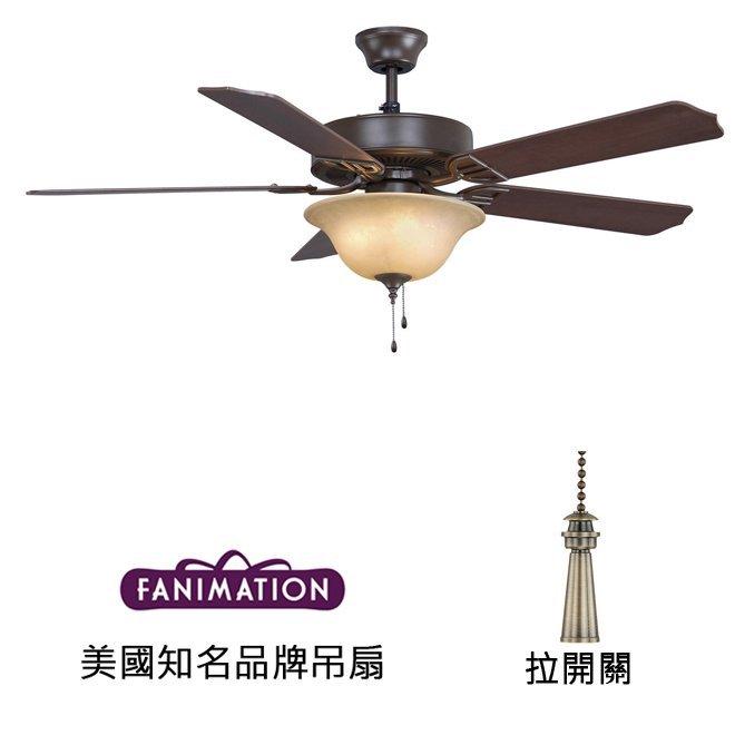 Fanimation Aire Decor 52英吋吊扇附燈(BP220OB1)油銅色 適用於110V電壓