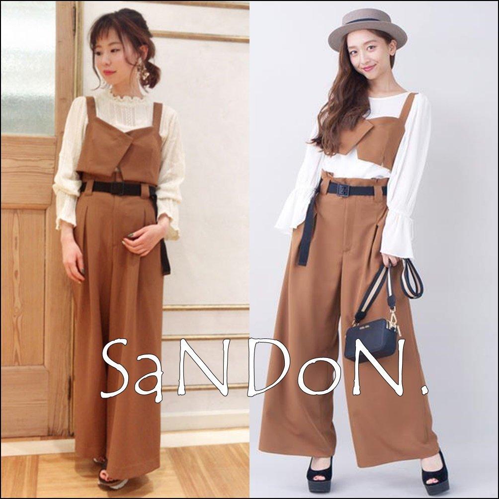 SaNDoN x『COCODEAL』2018早春新品 官網熱賣完售 復古高腰腰帶寬褲 SLY 180305