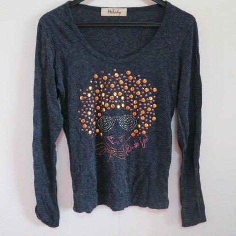 BEAR HOUSE 鉚釘人型圖樣 圓領樣式 毛料上衣
