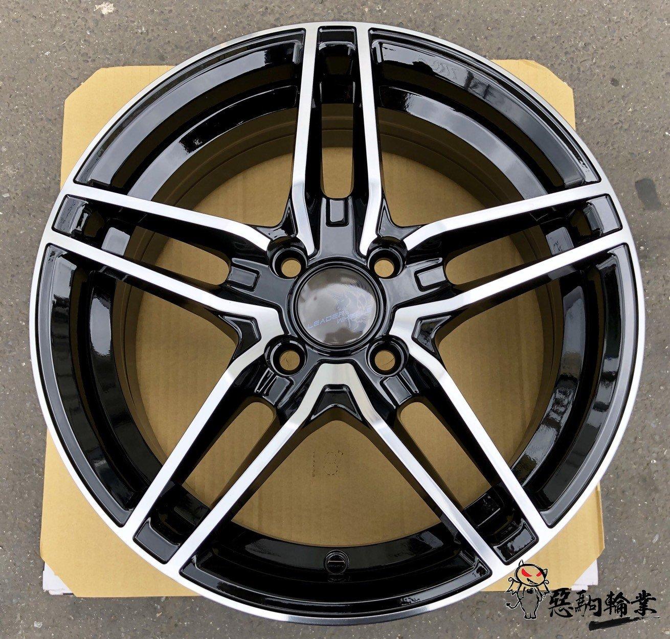 全新鋁圈 代號25 EL 15吋 4孔100 4孔114.3 5孔114.3 5孔100 黑底車面 另有16吋/17吋