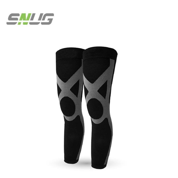 【sNug直營-運動壓縮全腿套(黑灰)】 腿套/護膝/束腿/馬拉松/護具/護腿/國際級漸進式壓力