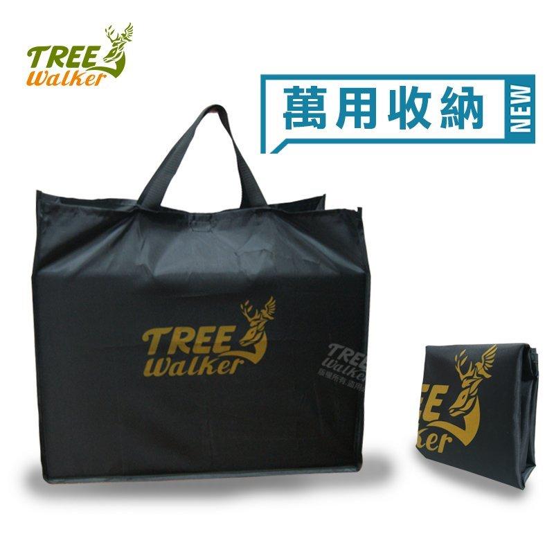 【TreeWalker 露遊】146038延伸布 手提置物袋黑色耐髒牛津布萬用露營用品.居家.收納外袋 199