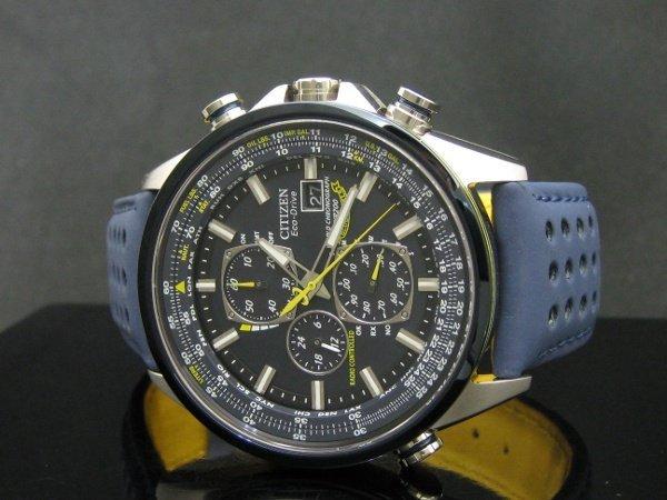 全新CITIZEN星辰光動能5局三眼電波時計F-18藍天使飛行隊紀念錶皮帶版同AT8050卡西歐SEIKO精工ORIS