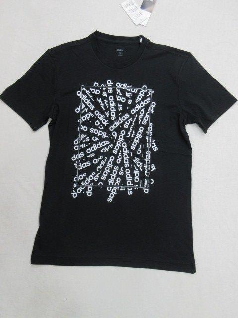【ADIDAS】~E LIN SCATTER T 男圓領衫  短袖T恤 短袖上衣 100%棉 DV3042 黑