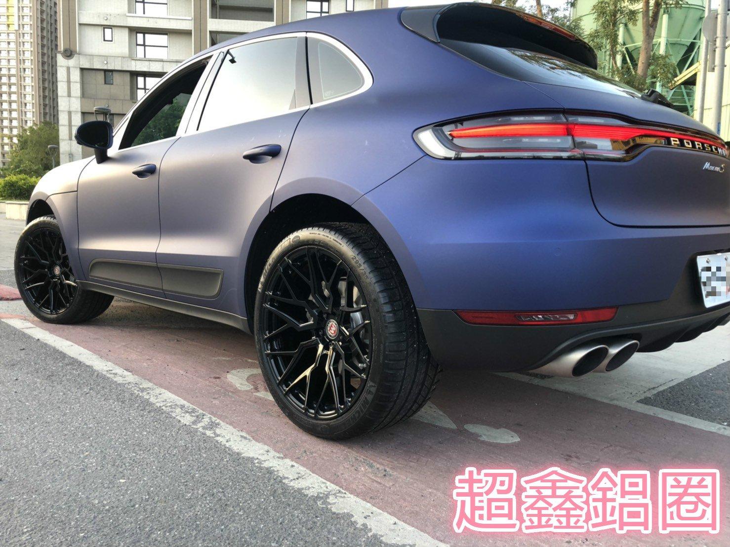 超鑫鋁圈 BC WHEEL KL31 單片鍛造客制鋁圈 21吋鋁圈 亮黑 Porsche Macan S 實裝圖