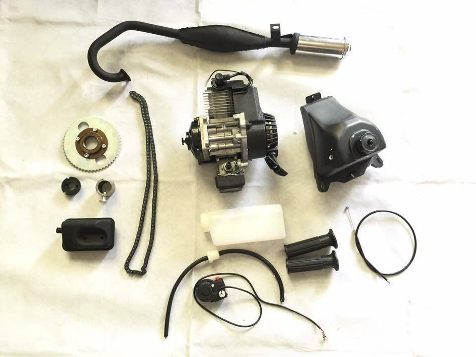迷你摩托車 小GP 49cc 引擎 腳踏車 小折 變速車 改裝套件 直上 釣魚車