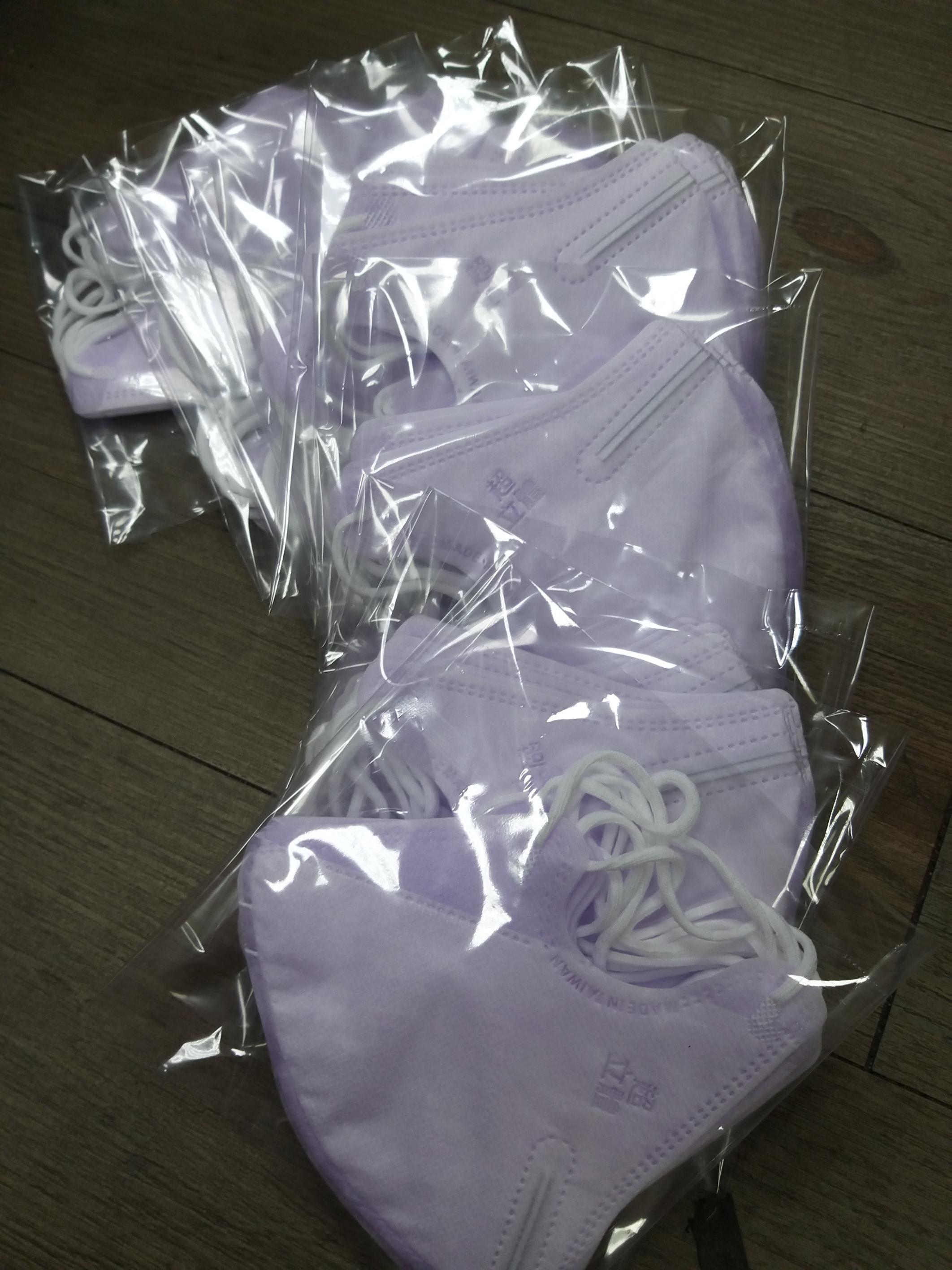 淨新超立體 薰衣草紫 成人3D立體耳繩口罩(一包5入) 有鼻壓條