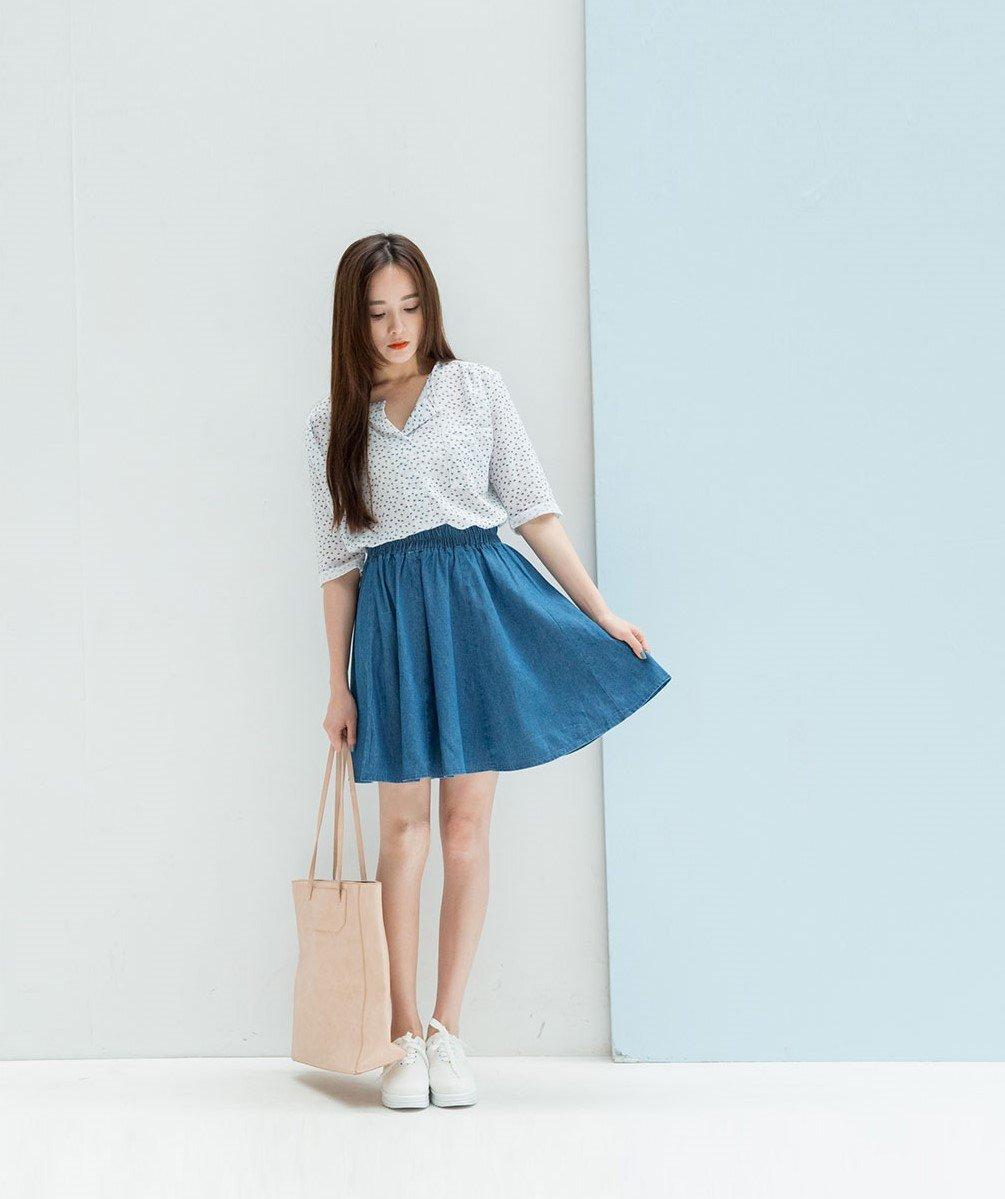 轉賣 [Lemon Drop] 青春 經典 牛仔A擺短裙 牛仔裙 短裙 裙子 迷你裙 好穿搭