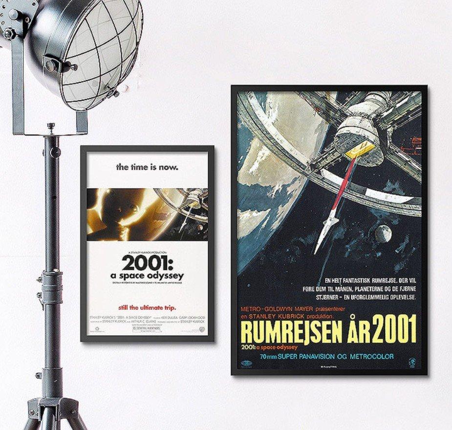 INHUASO 癮|画|所 2001太空漫遊A Space Odyssey 科幻電影海報掛畫太空人裝飾畫電影版畫收藏畫