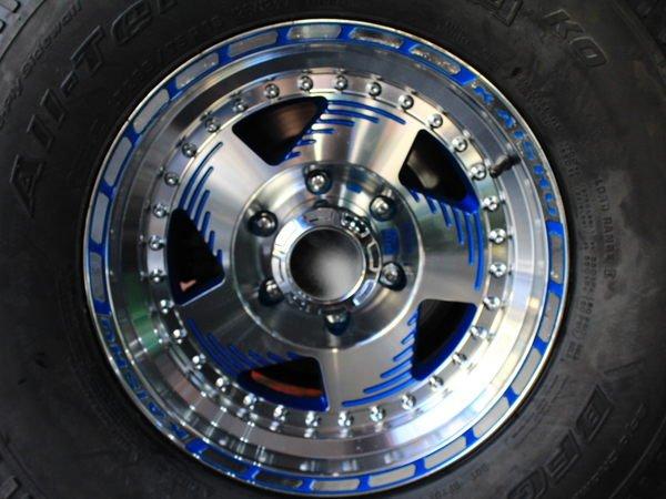 ~三重長鑫車業~特殊規格 越野專用鋁圈 6孔 139.7 8J ET-20 藍底 鑽石刀面 16吋鋁圈