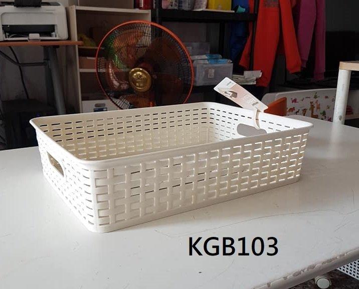 小毛收納館『KEYWAY KGB103藤藝桌上收納籃』含稅開發票 聯府 置物籃 開放式 整理籃 6.5L