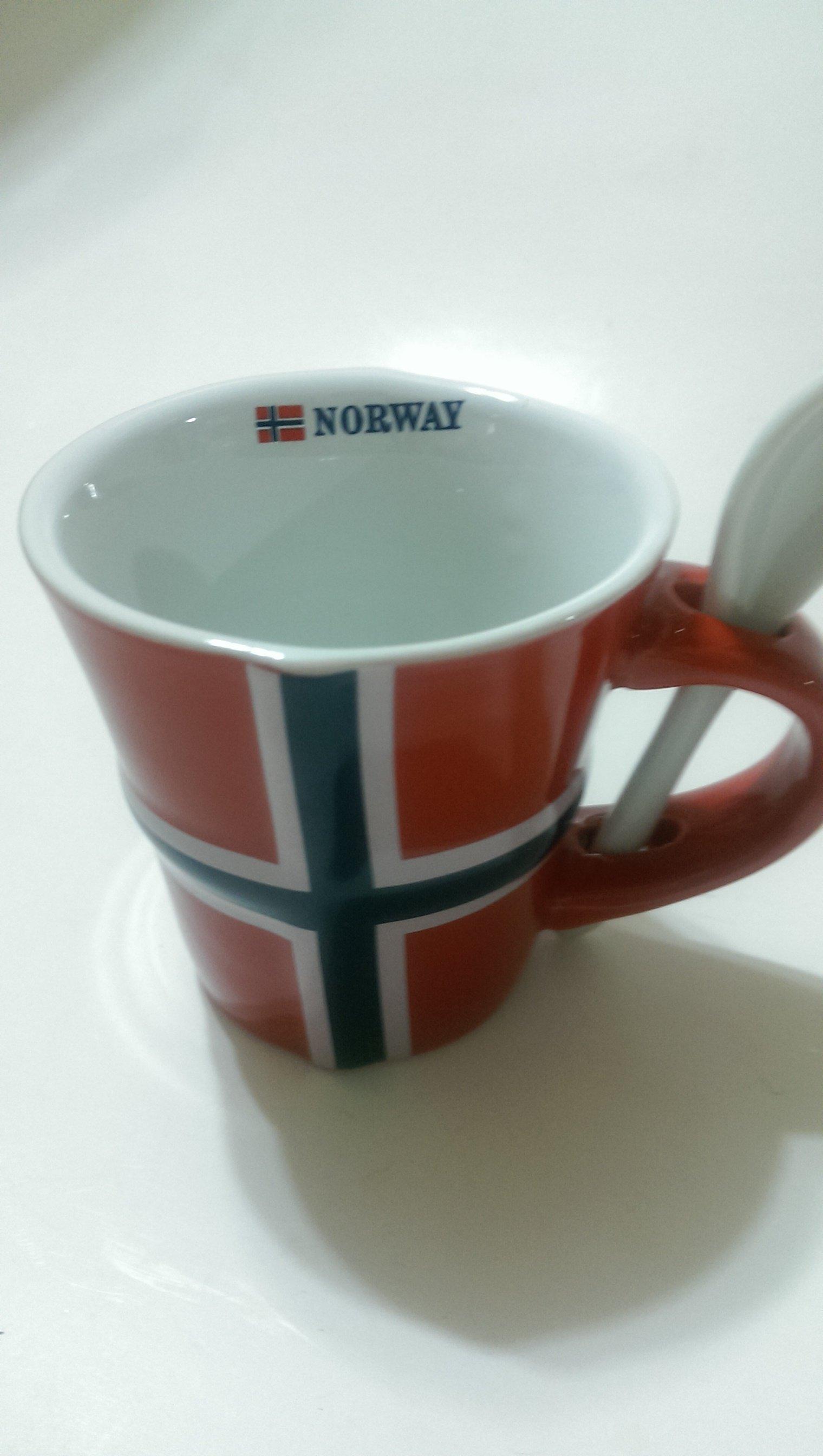 ***挪威帶回***挪威國旗附匙馬克杯❤❤❤150ml