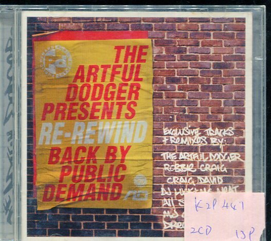 *真音樂* THE ARTFUL DODGER PRESENTS RE-REWIND 二手 2CD K29447