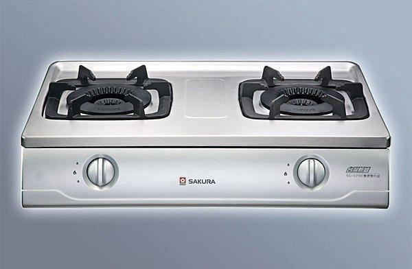 ~ 新好爐~內行人在用~櫻花牌雙內焰G5700不鏽鋼安全台爐 舊換新G-5700含
