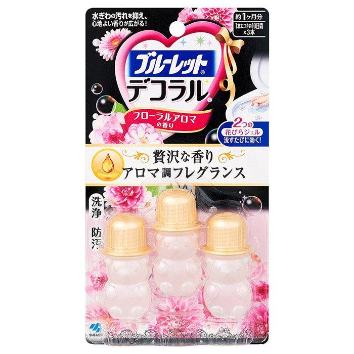 小林製藥BLUELET DECO馬桶清潔芳香花辦凝膠-花朵香氛 3入