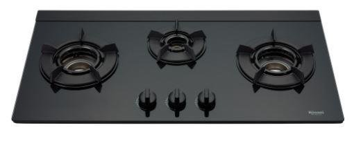 《日成》林內牌.顯示火力旋鈕.內焰三口玻璃品字檯面爐 ( RB-N312G )