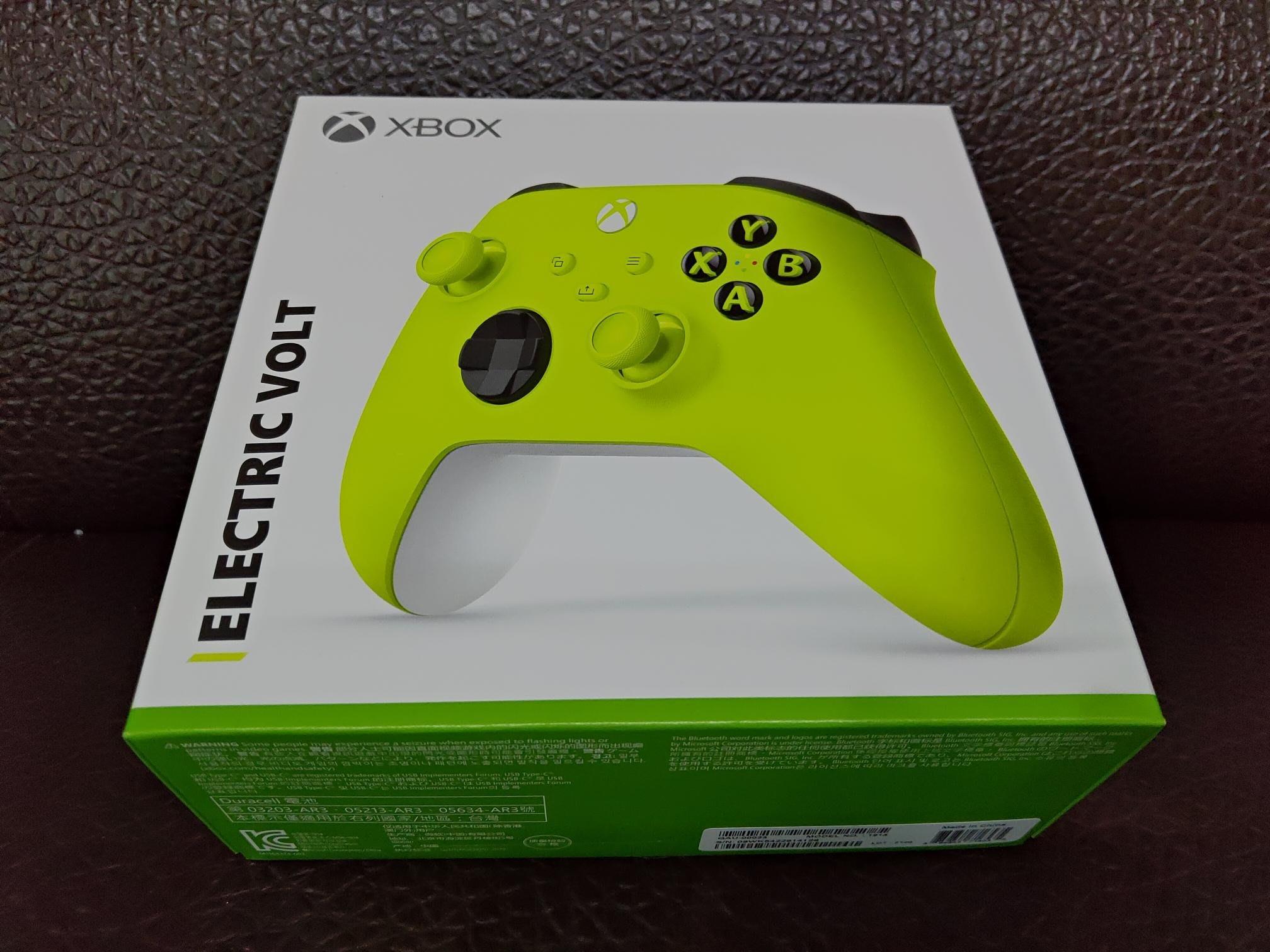 微軟Xbox 無線控制器 電擊黃