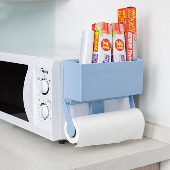 ☜shop go☞ 收納架 冰箱 保鮮膜 捲紙架 紙巾架 冰箱掛架 收納盒 洗衣機 整理 強力磁鐵收納架【A001-3】
