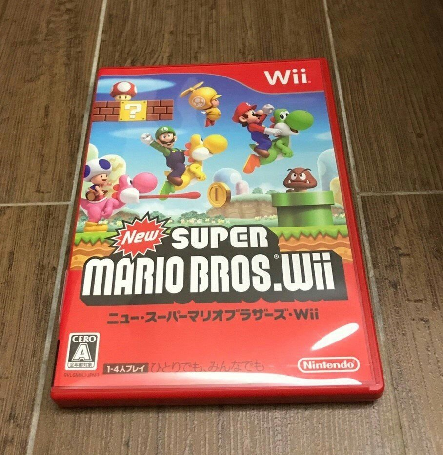 免運 Wii【New Super Mario Bros】日版日文 原版遊戲片 新超級瑪莉歐兄弟 馬力歐 瑪利歐 wiiu可玩 Nintendo 任天堂