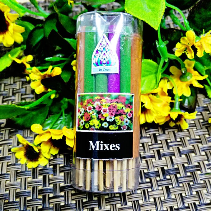 「還願佛牌」泰國 清淡型 空心香 短線香 棒香 熏香 立香 桶裝 ( 混合、Lelawadee 雞蛋花)