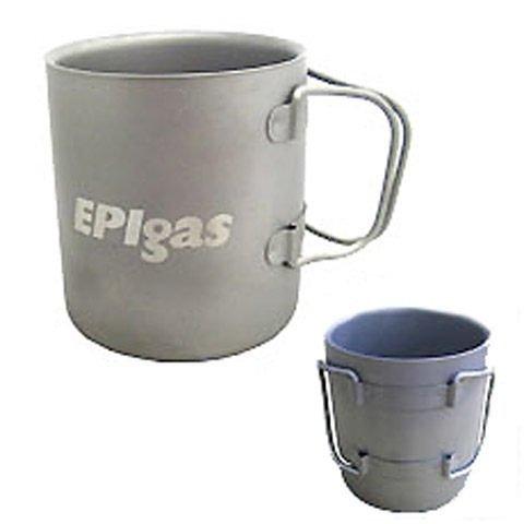 【集山庄】 EPIgas 鈦金屬雙層杯(M) T-8104 /斷熱杯.炊具.杯子.爐具  免運