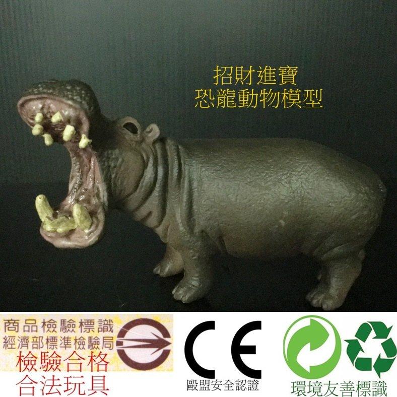 河馬 仿真動物玩具 模型玩具 野生動物園公仔收藏品 ZOO 小孩生日 售大象老虎熊貓獅子企鵝羚羊北極熊恐龍AM05