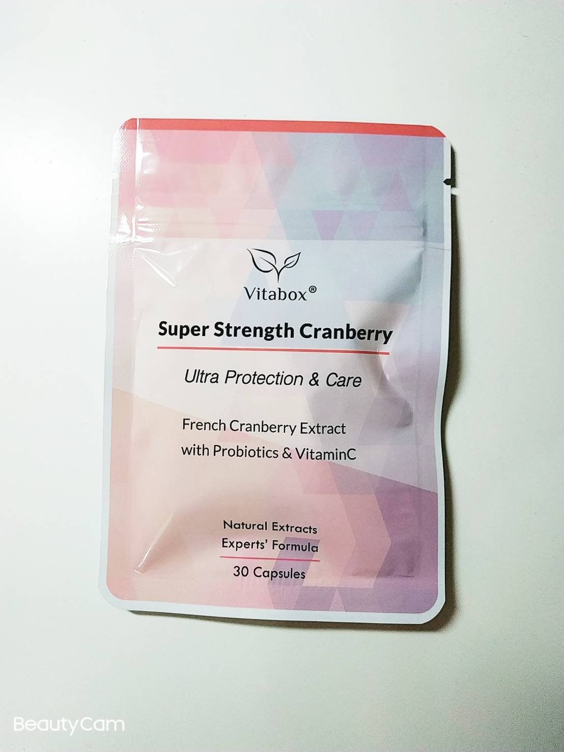 (7包2355宅配免運可刷卡)Vitabox法國專利雙效蔓越莓+超效益生菌+西印度櫻桃維他命C