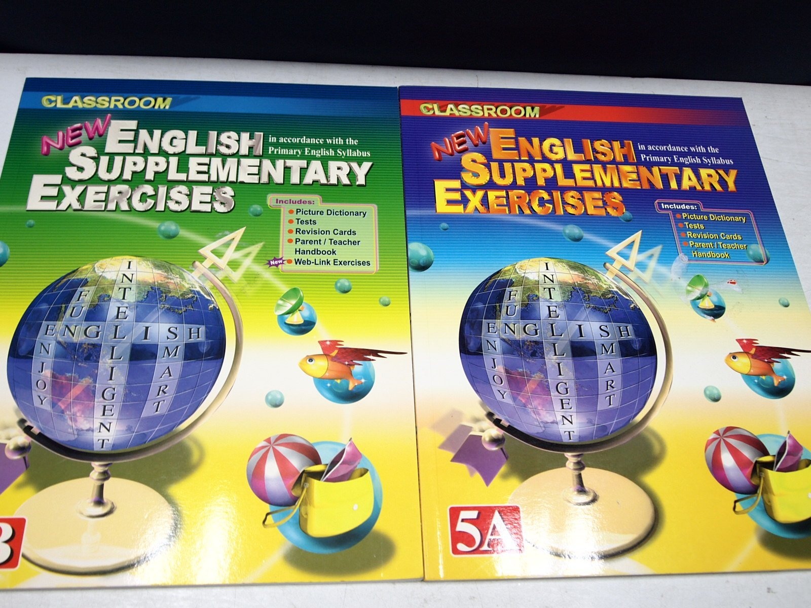 【考試院二手書】《NEW ENGLISH SUPPLEMENTARY EXERCISES 5A+5B 》│ 七成新