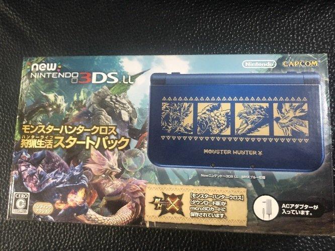 [全新現貨] NEW 3DSLL主機 (日規)魔物獵人X限量機 加贈 保護貼 自取價:6980 (小強模型)