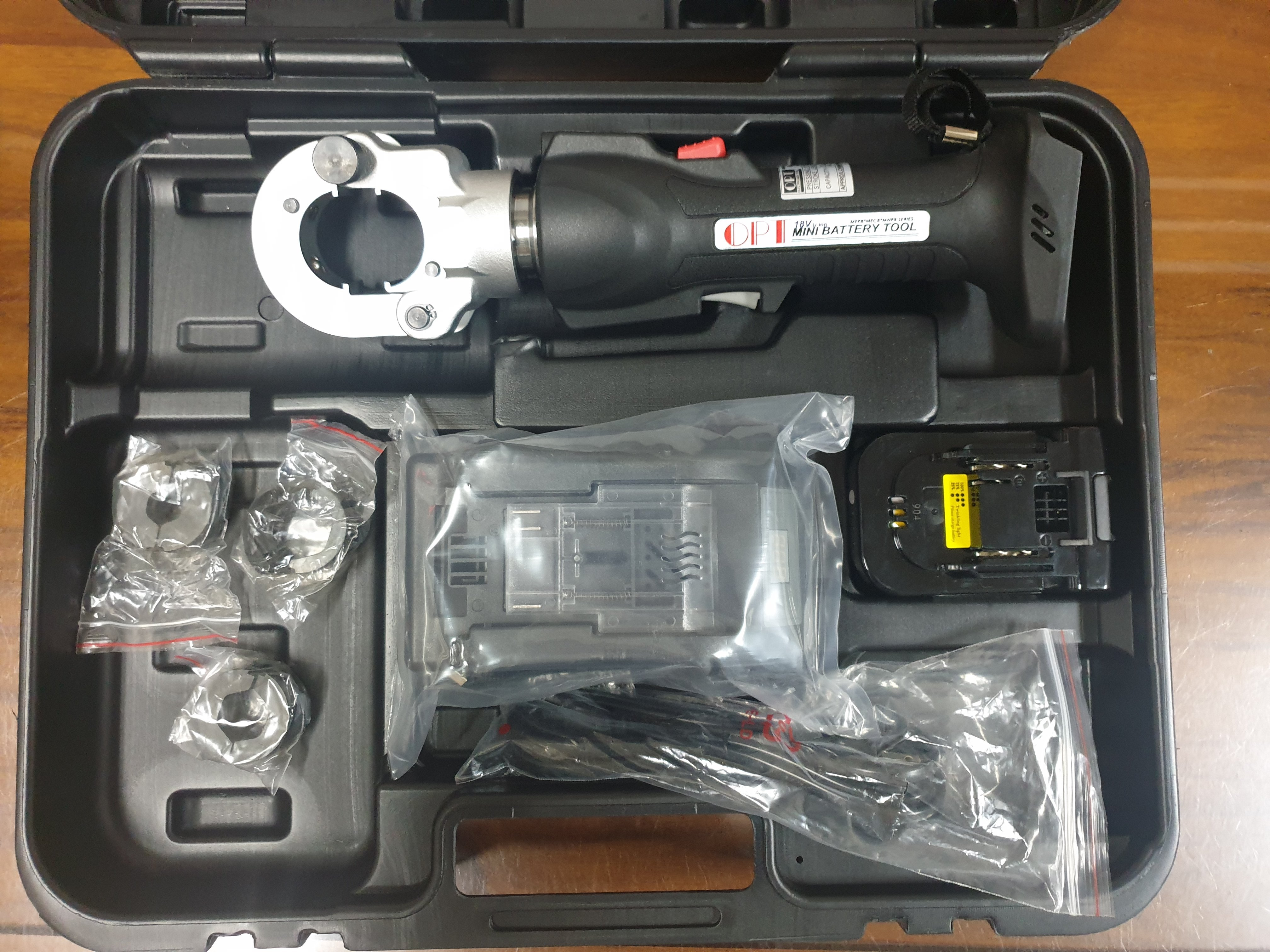 【優質五金-私訊有優惠】OPT MEPB-22 18V 迷你充電式壓接機 油壓端子 6TON
