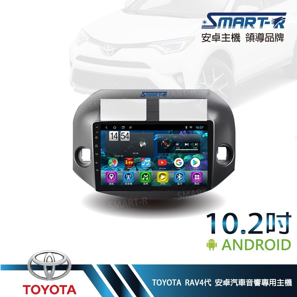 【SMART-R】TOYOTA 舊RAV4 3代 10.2吋安卓 2+32 Android 主車機-第二代入門四核 T1
