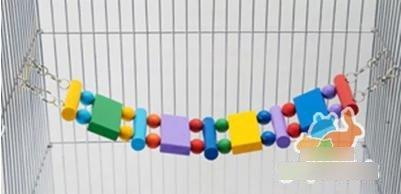 【原木軟橋-玩具-RJ157-5309】彩色吊橋 原木軟橋 秋千 龍貓松鼠天竺鼠玩具,長53cm-79023.