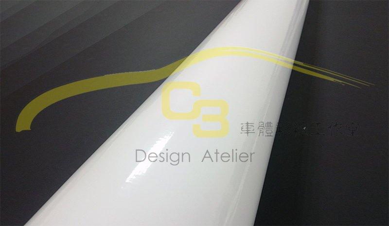 【C3車體彩繪工作室】車身 亮面 烤漆 膜 白色 汽車 改色膜 全車 烤漆 亮面膜 素面膜 車身保護膜 導氣孔 貼紙