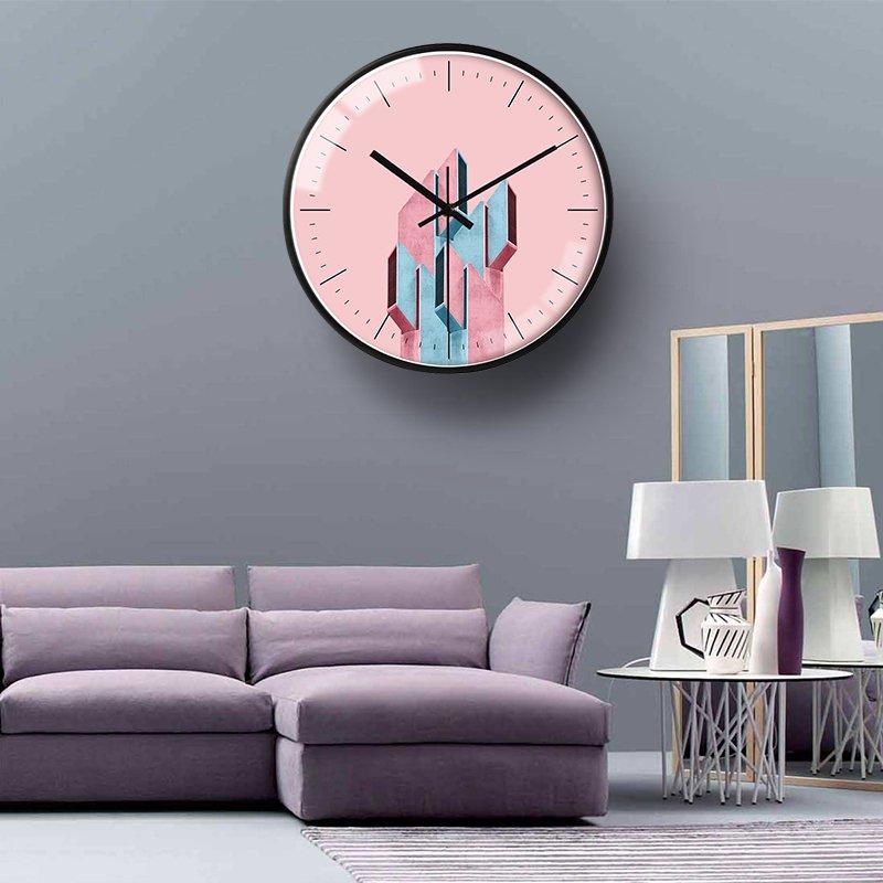 〖洋碼頭〗北歐創意個性藝術掛鐘時尚藝術裝飾會議室客廳家用臥室靜音鐘錶 bhm348