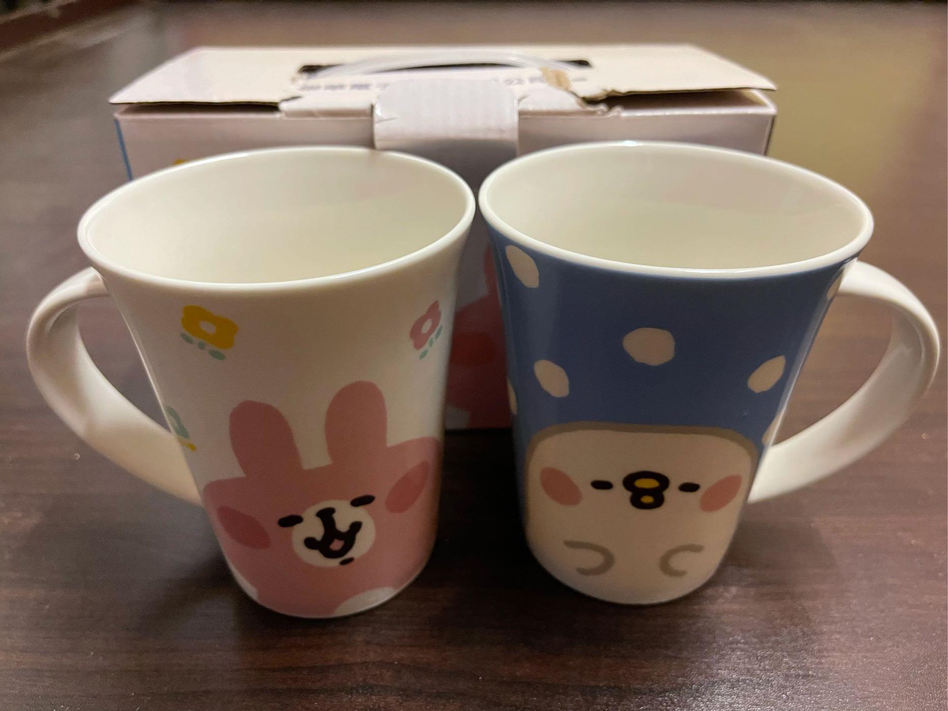 卡娜赫拉杯子玻璃杯茶杯 卡拉赫拉 陶瓷杯 馬克杯 兔子 一組兩入 聯電紀念品