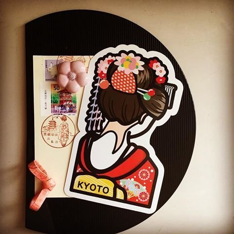 Ariel #x27 s Wish-2010 地域限定 款-京都郵便局 第一彈-京都府藝妓舞妓和服浴衣明信片卡片- 絕版品