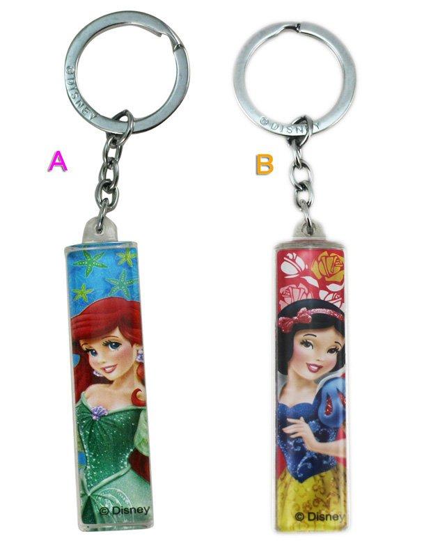 【卡漫迷】 公主 鑰匙圈 壓克力 2選1 ㊣版 掛飾 吊飾 Mermaid 小美人魚 Snow white 白雪公主