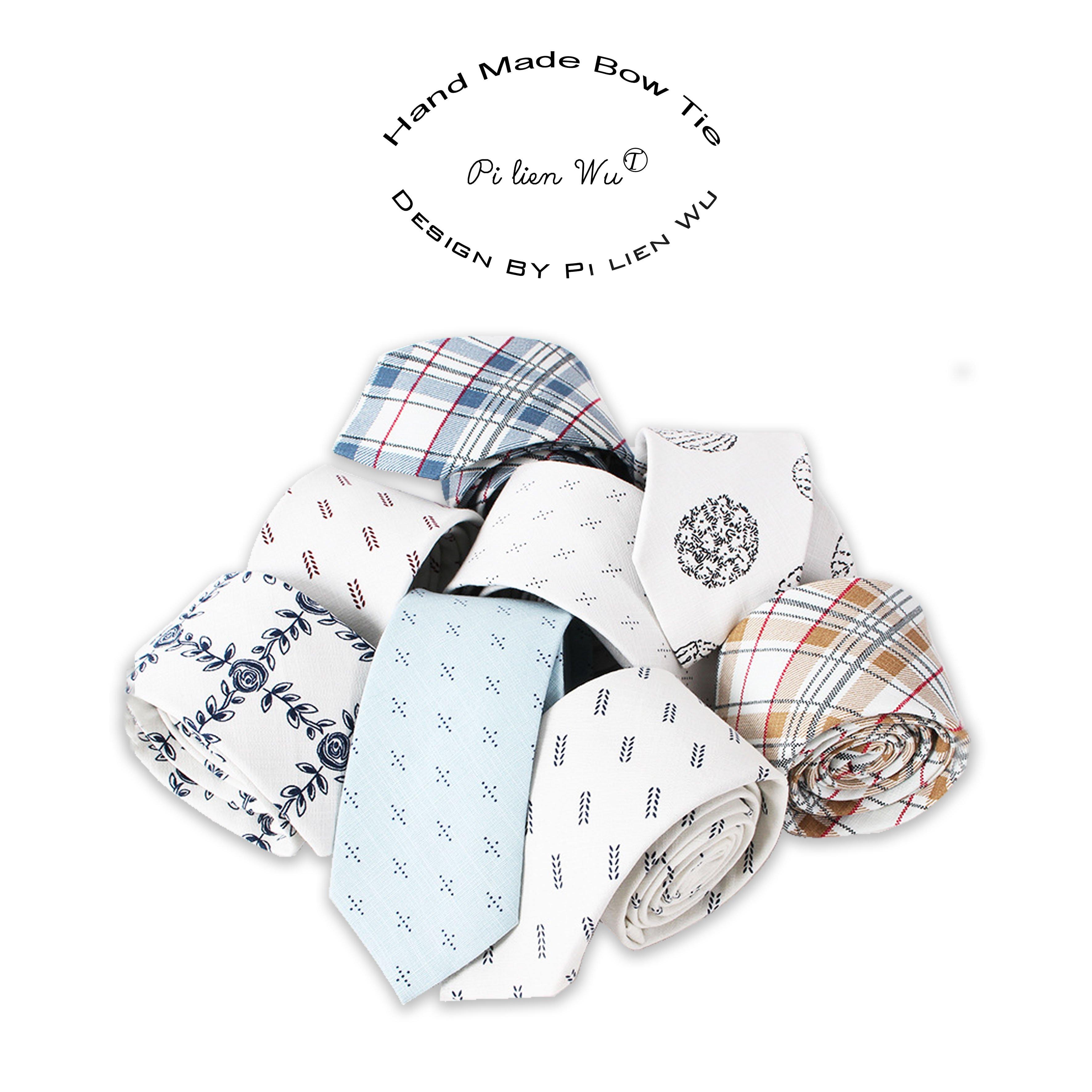 棉質領帶☆↜玫瑰。誌 雅致 潮男文青印花風格棉質手打領帶百搭領帶棉麻領帶領結窄版領帶棉布領帶