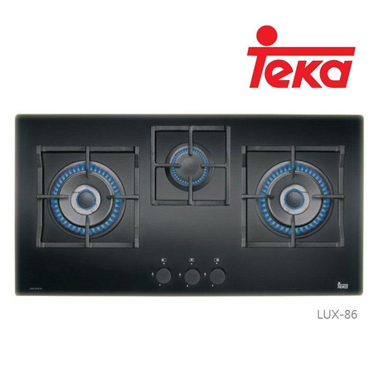 【BS】TEKA 德國 LUX-86 86公分玻璃三口瓦斯爐 LUX86