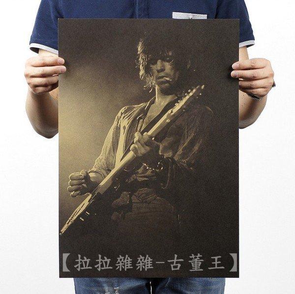 【貼貼屋】滾石樂團 英國搖滾樂團 懷舊復古 牛皮紙海報 壁貼 店面裝飾 電影海報 290