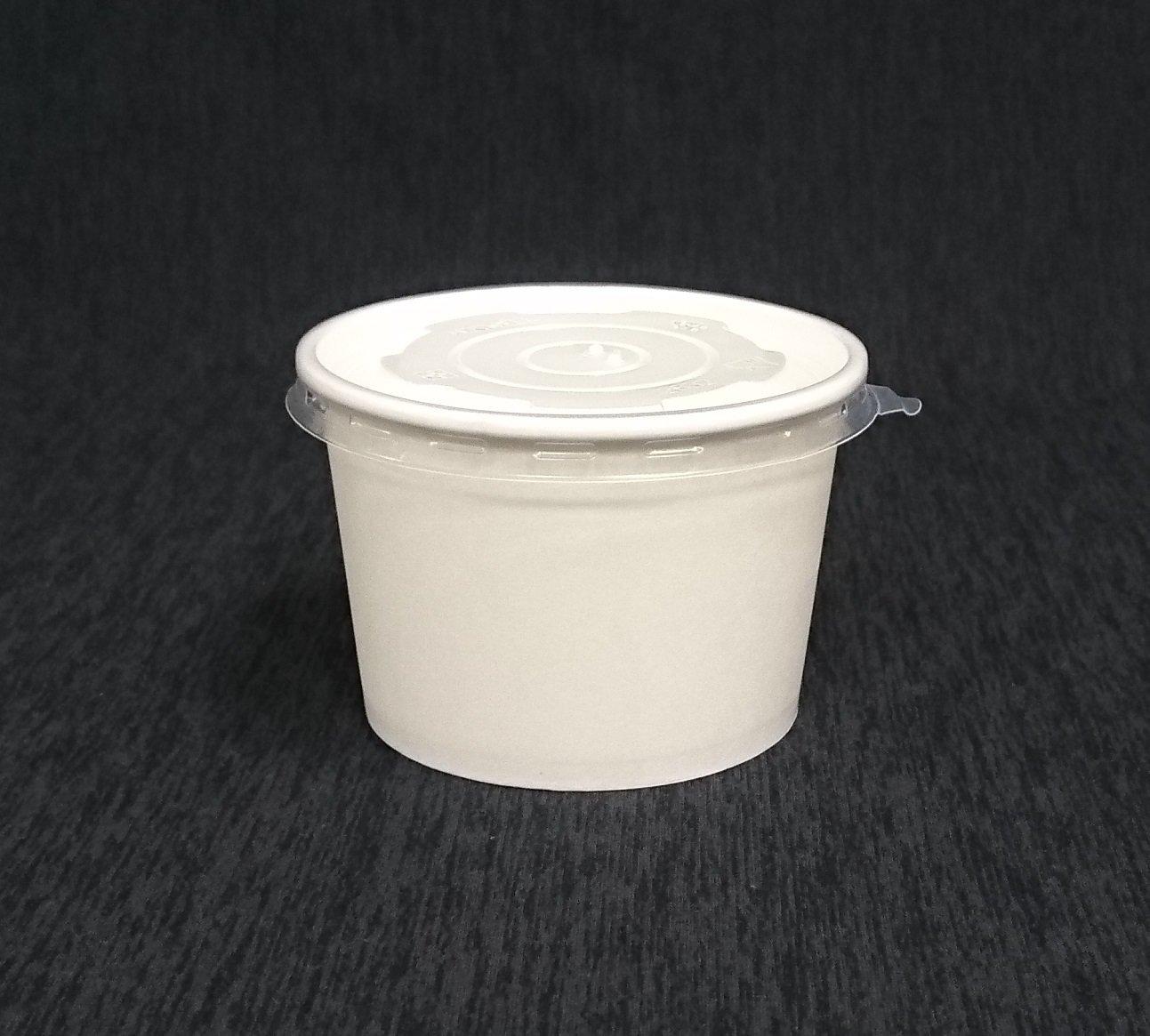50組【全白 1000湯杯 蓋】白色紙碗 紙湯杯蓋 紙湯碗蓋 麵碗 紙餐盒 紙便當盒 免洗碗 晶得閒