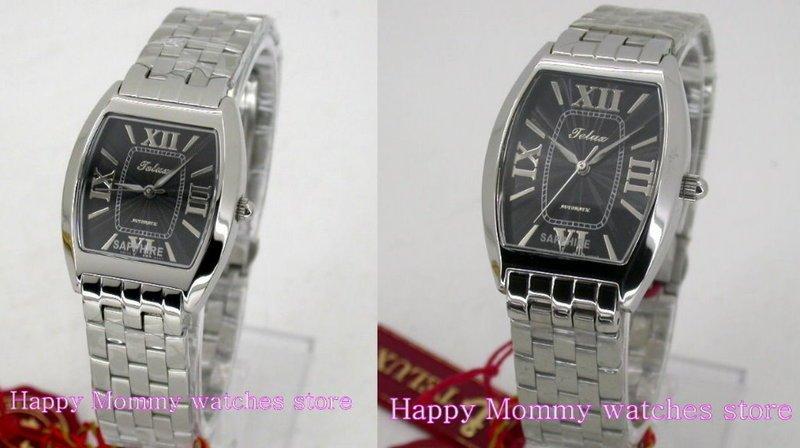 【 幸福媽咪 】TELUX 鐵力士 瑞士ETA機芯,水晶不刮傷鏡面 自動手動上鍊機械對錶