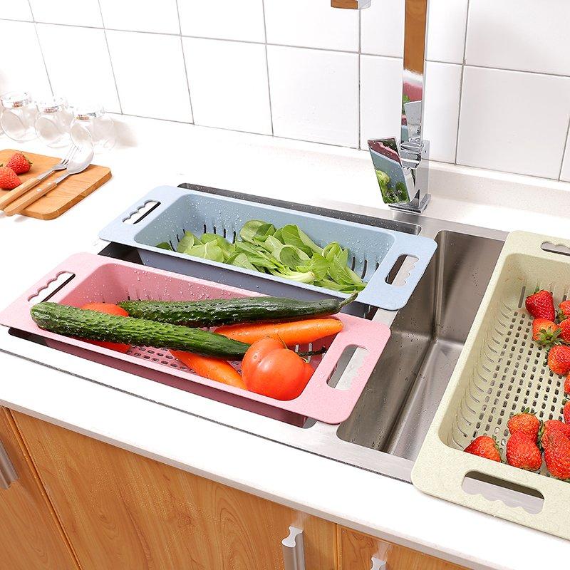 收納 小麥秸稈水槽瀝水架置物架廚房塑料放碗筷架子家用蔬菜收納架碗架