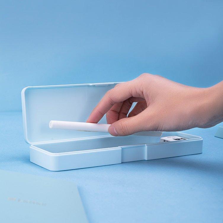 文具收納云木雜貨 簡約文具盒鉛筆盒多 筆盒塑料鉛筆收納學習文具用品