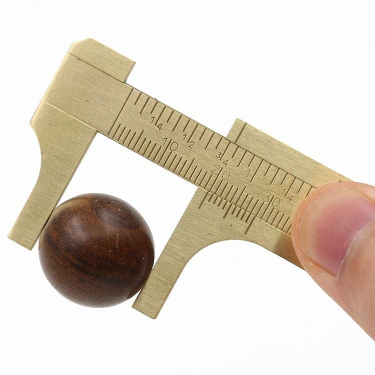 綸綸 用品 (速出貨)迷你單刻度卡尺 游標卡尺全銅卡尺 文玩卡尺小卡尺