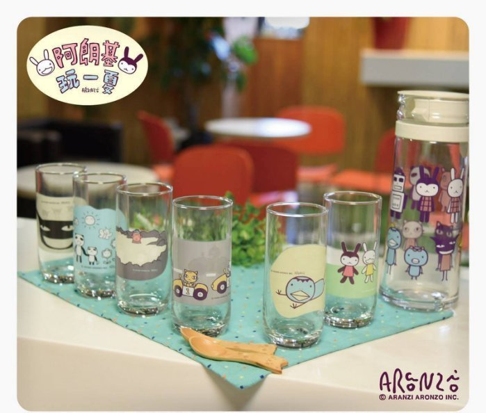 ,全家便利商店,阿朗基玩一夏,阿朗基變色玻璃杯單賣(熊貓哥*1),板橋鄰近區域可面交