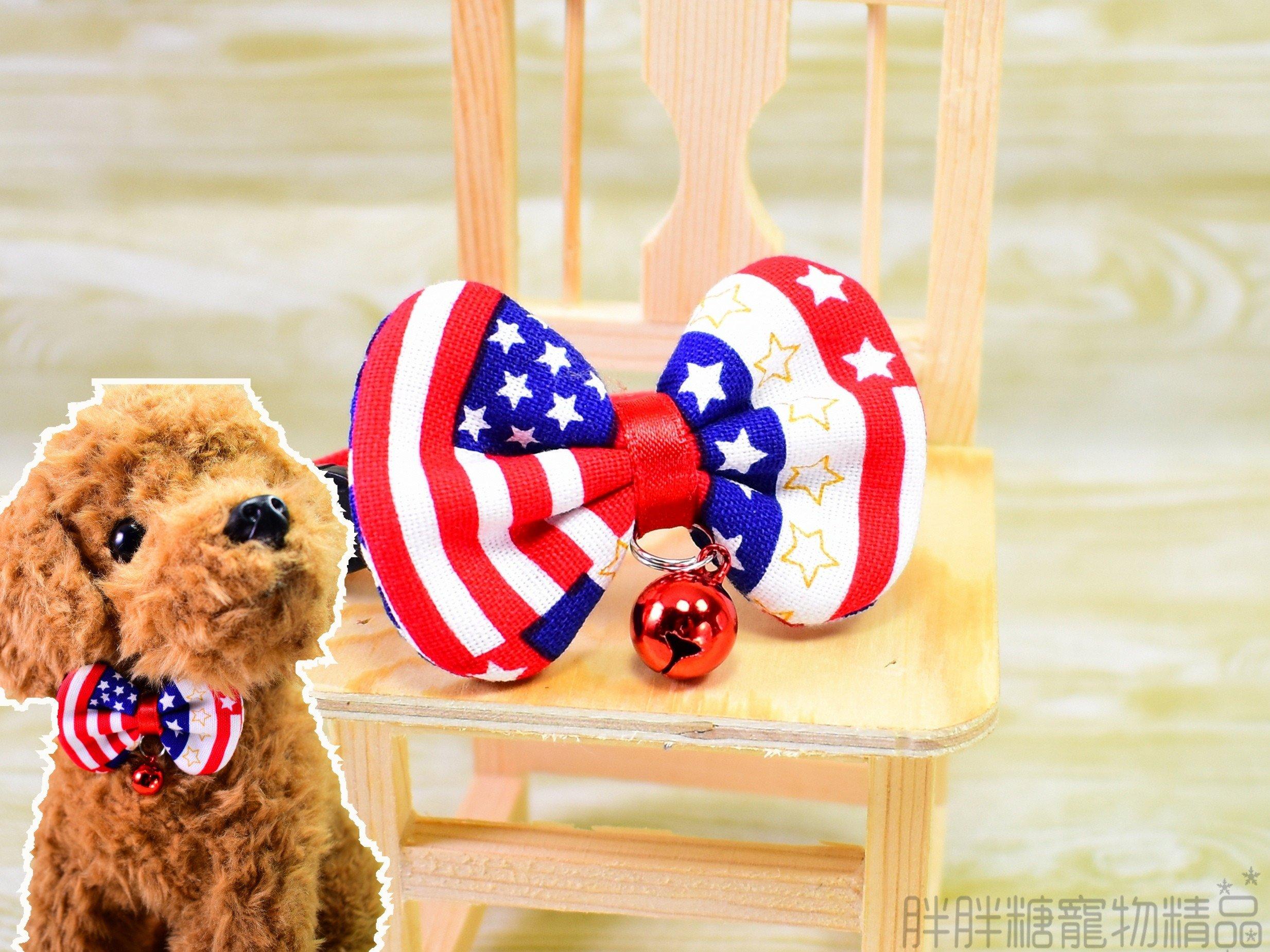 【胖胖糖】紳士英美風領結項圈(XS號)-寵物項圈 安全扣 可伸縮 MIT  小型犬 貓項圈 狗項圈 頸圈