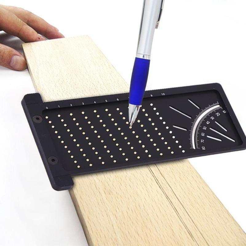 木工 劃線尺 洞洞尺 木工 劃線器 迷你 劃線器 木工 直角尺