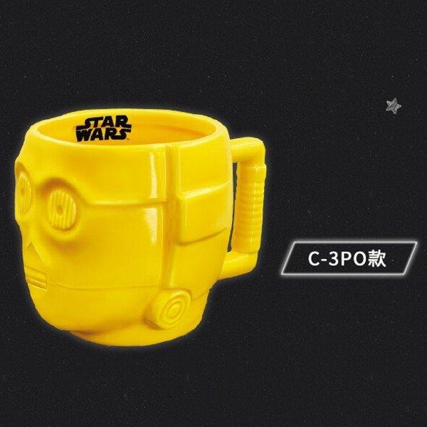 C-3PO -7-11星際大戰. 黑武士.帝國風暴兵.C-3PO.BB-8.R2-D2.死亡星 馬克杯